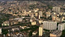 Aerial video mapping out Rio de Janeiro, Brazil.