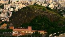 High-definition aerial pan of Rio de Janeiro, Brazil.