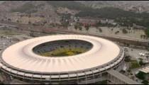 Aerial shot of Brazilian sky and the World Cup Stadium - Rio de Janeiro, Brazil.