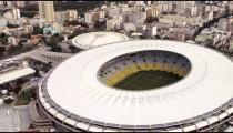 Aerial footage of Rio de Janeiro and World Cup Stadium.