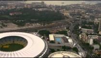 Aerial shot of city surrounding Maracan