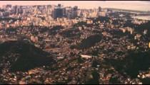 Aerial shot of Rio de Janeiro, Brazil and urban sprawl.