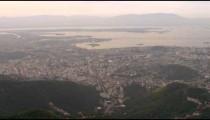 Aerial shot of urban planning and roadways - Rio de Janeiro, Brazil.