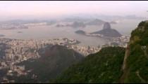 Aerial footage of various cities, shorelines, and landmarks - Rio de Janeiro, Brazil.