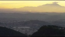 Still clip of the morning sky in Rio de Janeiro over a cityscape