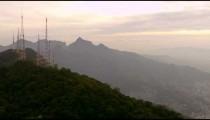 Brazilian Highlands and Radio Towers, Aerial Shot - Rio de Janeiro, Brazil.