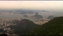 The Brazilian HIghlands, Atlantic Ocean, and Rio de Janeiro from a helicopter.