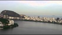 Aerial view of Brazilian Lake and Cityscape - Rio de Janeiro.