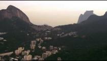 High-definition aerial shot of highlands and buildings - Rio de Janeiro, Brazil.