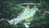 Heavier traffic heads south at a tunneled intersection in Rio de Janeiro