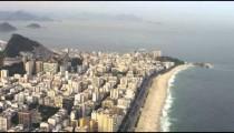Aerial shot of shoreline and coast with Rio City.