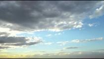 Short shot of the blue cloudy sky during a Rio de Janeiro sunset