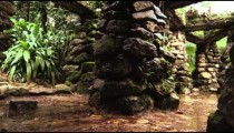 Water dripping from the stone structures in the Jardim Botanico, Rio