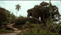 Steps leading up hill in Jardim Botanicos, Rio