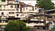 Static shot of a part of a favela in Rio de Janeiro, Brazil