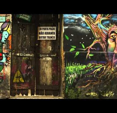 RIO DE JANEIRO, BRAZIL - JUNE 23: Slow motion, artwork on walls on June 23, 2013 in Rio de Janeiro