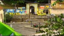 Slow motion shot of a street in Rio de Janeiro, Brazil