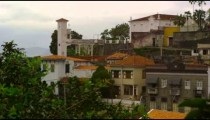 Shot of different types of houses in a neighborhood in Rio de Janeiro, Brazil
