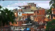 Static long shot of a favela in Rio de Janeiro, Brazil