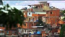 Static shot of impoverished community in Rio de Janeiro, Brazil