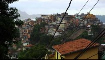 Shot of a favela in Rio de Janeiro as seen from a nearby middle class neighborhood