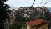 Shot of a favela in Rio de Janeiro as seen from a nearby middle class neighborhood