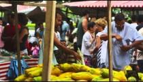 RIO DE JANEIRO, BRAZIL - JUNE 23: Slow motion of people at market on June 23, 2013 in Rio, Brazil