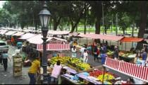 RIO DE JANEIRO, BRAZIL - JUNE 23: Slow motion of sidewalk market on June 23, 2013 in Rio, Brazil