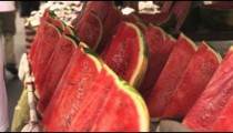 Close-up of watermelons for sale in a market at Rio de Janeiro, Brazil