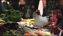 RIO DE JANEIRO, BRAZIL - JUNE 23: Slow motion of market customers on June 23, 2013 in Rio, Brazil