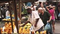 RIO DE JANEIRO, BRAZIL - JUNE 23: Slow motion of buyers at market on June 23, 2013 in Rio, Brazil