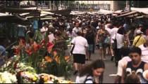 RIO DE JANEIRO, BRAZIL - JUNE 23: Slow motion of crowd at market on June 23, 2013 in Rio, Brazil