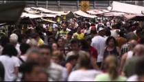 RIO DE JANEIRO, BRAZIL - JUNE 23: Slow motion of throng at market on June 23, 2013 in Rio, Brazil