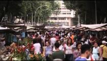 RIO DE JANEIRO, BRAZIL - JUNE 23: Slow motion, people walking at market on June 23, 2013 in Rio
