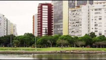 Tall buildings and a park in Rio de Janeiro, Brazil