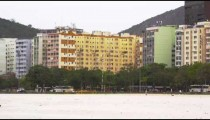 Static shot of a business district in Rio de Janeiro, Brazil
