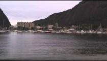 Moored boats at a marina in Rio de Janeiro, Brazil