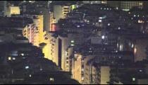 Slow pan of building rooftops in Rio de Janeiro, Brazil
