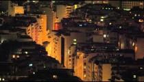 Panning shot of building rooftops in Rio de Janeiro, Brazil
