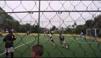 RIO DE JANEIRO, BRAZIL - JUNE 23: Slow motion pan men's soccer game on June 23, 2013 in Rio, Brazil