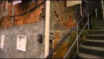 RIO DE JANEIRO, BRAZIL - JUNE 23: Slow pan of houses in favela on June 23, 2013 in Rio, Brazil