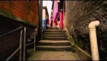 RIO DE JANEIRO, BRAZIL - JUNE 23: Slow dolly shot of favela houses on June 23, 2013 in Rio, Brazil