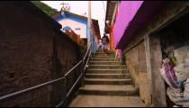 RIO DE JANEIRO, BRAZIL - JUNE 23: Slow dolly shot, favela community on June 23, 2013 in Rio, Brazil