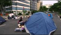 RIO DE JANEIRO, BRAZIL - JUNE 23: Slow pan of protest on June 23, 2013 in Rio, Brazil