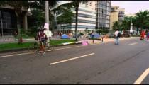 RIO DE JANEIRO, BRAZIL - JUNE 23: Slow dolly shot, people on street on Jun 23, 2013 in Rio, Brazil