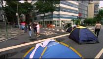 RIO DE JANEIRO, BRAZIL - JUNE 23: Slow dolly shot crowd on street on June 23, 2013 in Rio, Brazil