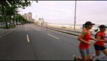 RIO DE JANEIRO, BRAZIL - JUNE 23: Slow dolly shot, walking on road on June 23, 2013 in Rio, Brazil