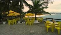 RIO DE JANEIRO, BRAZIL - JUNE 23: Slow dolly shot of outdoor cafe on June 23, 2013 in Rio, Brazil