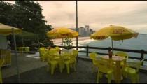 RIO DE JANEIRO, BRAZIL - JUNE 23: Slow dolly shot of restaurant on June 23, 2013 in Rio, Brazil