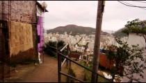 RIO DE JANEIRO, BRAZIL - JUNE 23: Slow dolly shot of favela community, Jun 23, 2013 in Rio, Brazil